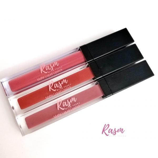 Rasm with Veena in BEA liquid lipstcik