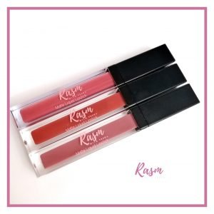 Rasm with Veena in Rosa liquid lipstcik