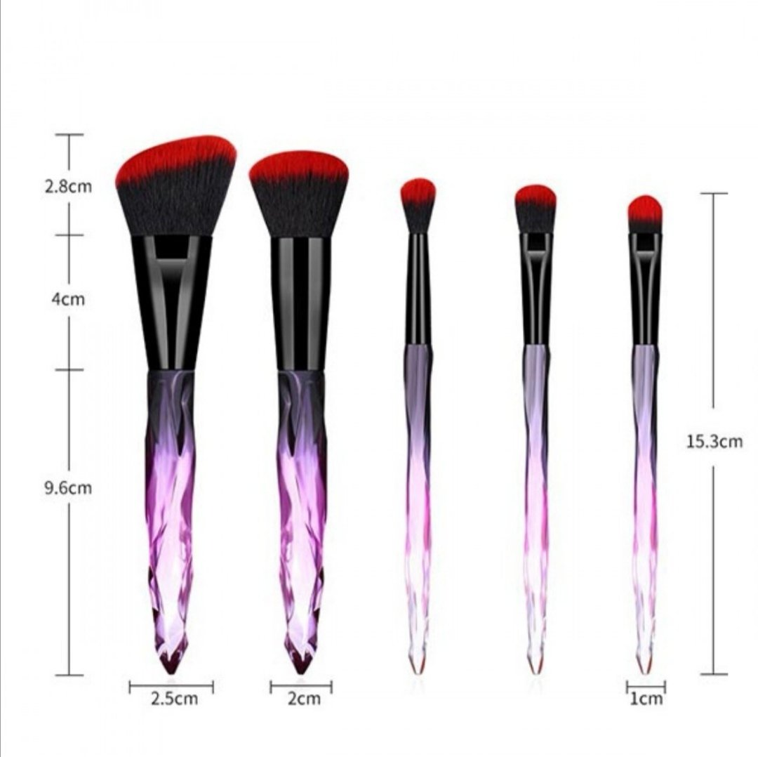 5pcs Grant Luxury Makeup Brushes Set